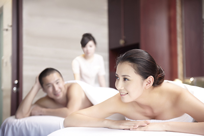 Side by Side Couple's Massage