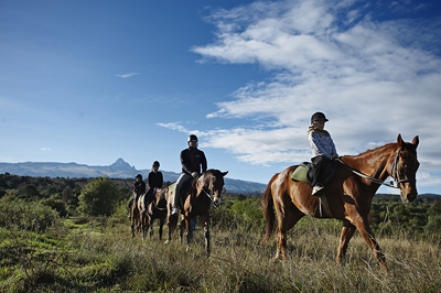 Horseback Riding up the Slopes of Mount Kenya